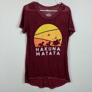 Disney | Lion King Hakuna Matata Maroon Sheer Tee
